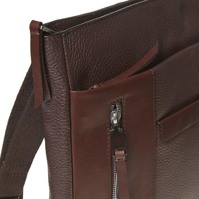Kožená pánska Crossbody taška bata, hnedá, 964-4230 - 17