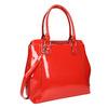 Červená lakovaná kabelka bata, červená, 961-5684 - 13