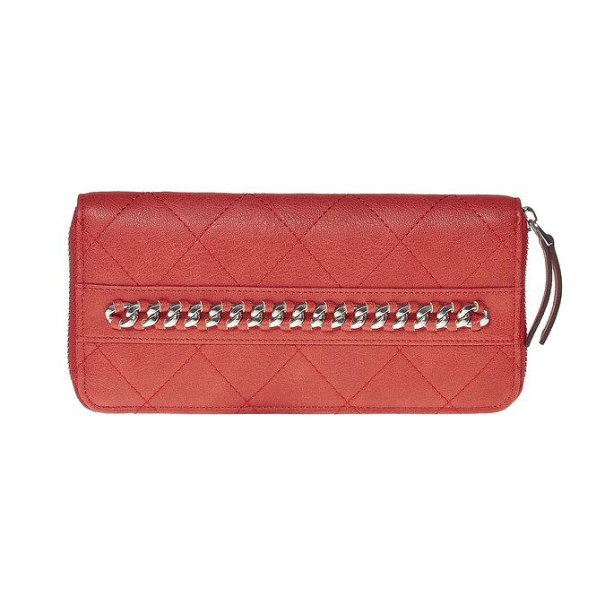 Červená peňaženka s retiazkou bata, červená, 941-5146 - 17