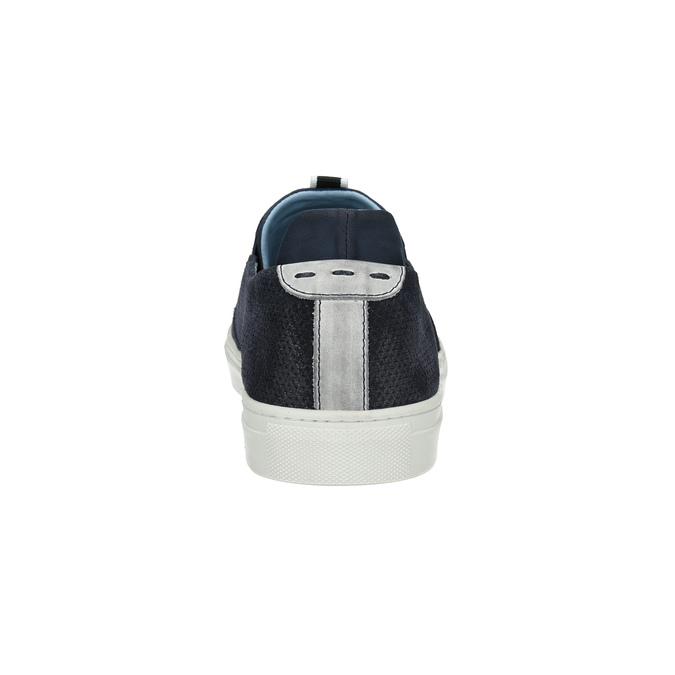 Pánska kožená Slip-on obuv bata, modrá, 833-9600 - 17