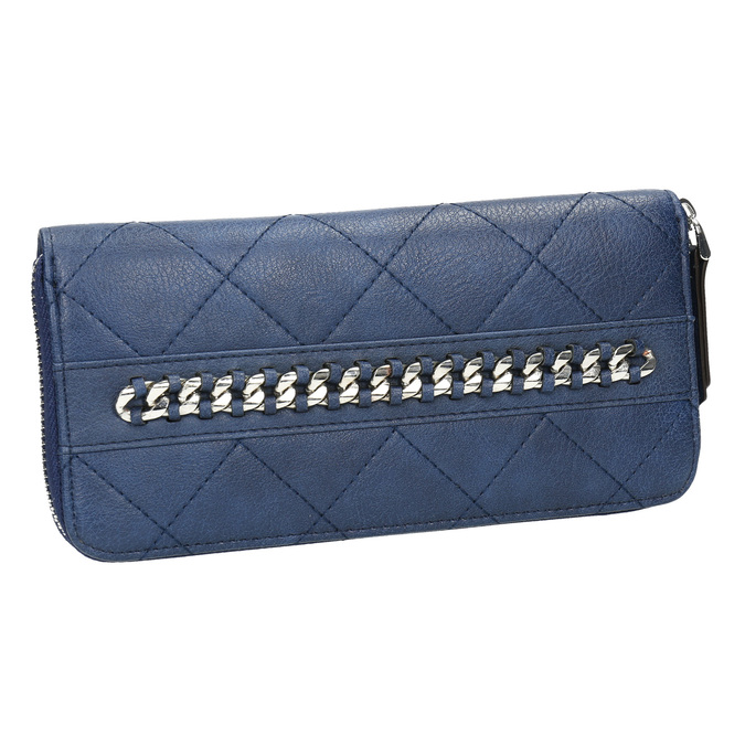 Dámska peňaženka s prešívaním bata, modrá, 941-9146 - 13