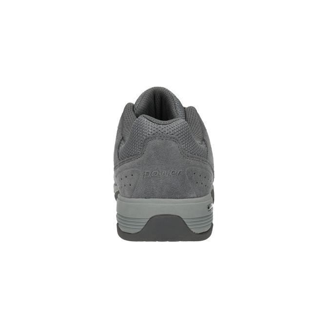 Dámske kožené tenisky power, šedá, 503-2117 - 17