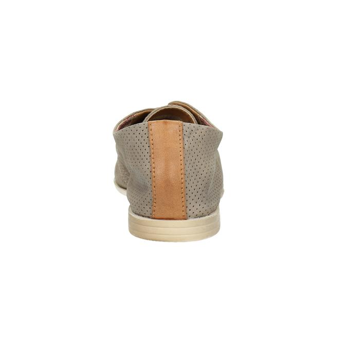 Kožené dámske poltopánky bata, šedá, 526-2619 - 17
