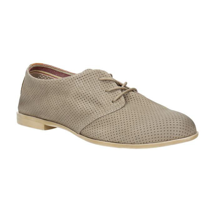 Kožené dámske poltopánky bata, šedá, 526-2619 - 13