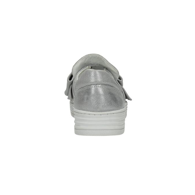 Kožená Slip-on obuv s mašľou bata, strieborná, 516-2605 - 17