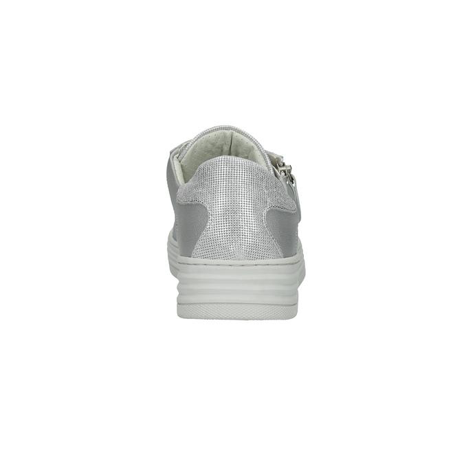 Kožené dámske tenisky bata, strieborná, 526-1630 - 17