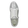 Kožené dámske tenisky bata, strieborná, 526-1630 - 19