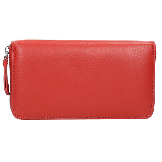 Červená kožená peňaženka bata, červená, 944-5178 - 26