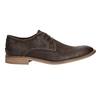 Hnedé kožené poltopánky s výrazným prešitím bata, hnedá, 826-4815 - 15