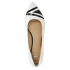 Kožené dámske baleríny bata, biela, 524-1602 - 19