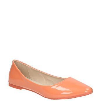 Dámske baleríny bata, oranžová, 521-8602 - 13