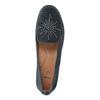 Dámske kožené mokasíny šírky H bata, modrá, 523-9603 - 19