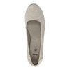 Kožené lodičky šírky H bata, šedá, 623-2602 - 19