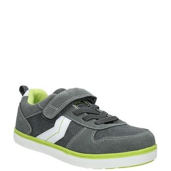 Detské tenisky na suchý zips mini-b, šedá, 419-7610 - 13
