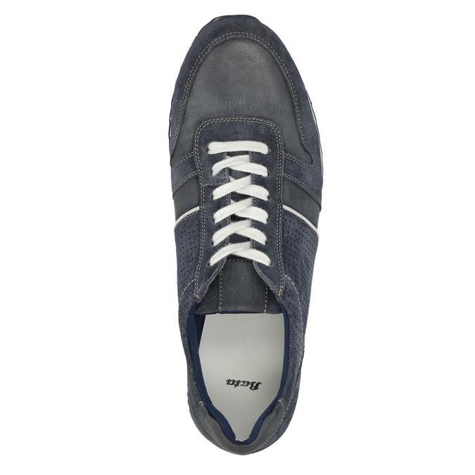 Pánske kožené tenisky bata, modrá, 843-9624 - 19