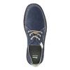 Neformálne poltopánky z brúsenej kože bata, modrá, 853-9612 - 15