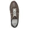 Pánske kožené tenisky bata, hnedá, 843-4624 - 19