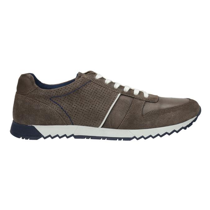 Pánske kožené tenisky bata, hnedá, 843-4624 - 15