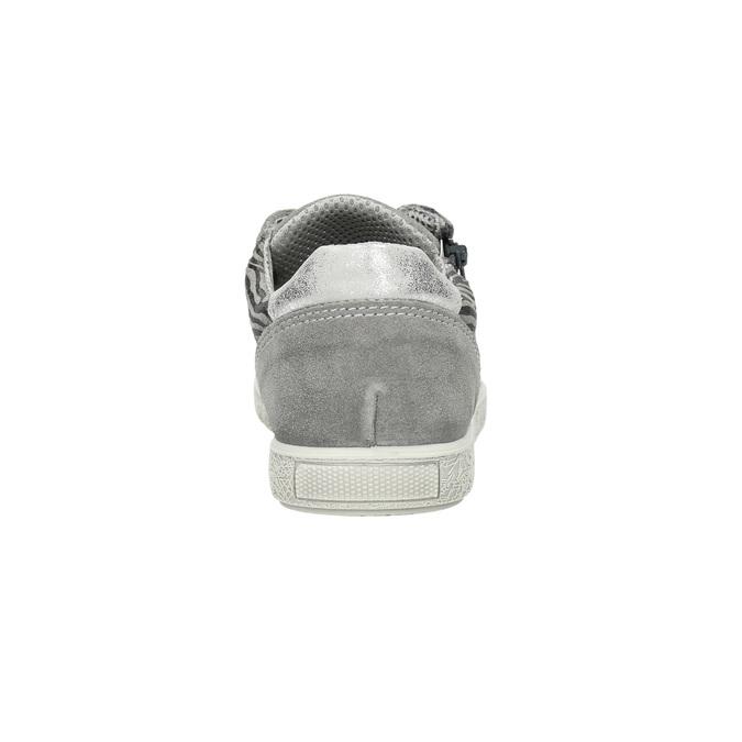 Detské kožené tenisky mini-b, šedá, 423-2600 - 17