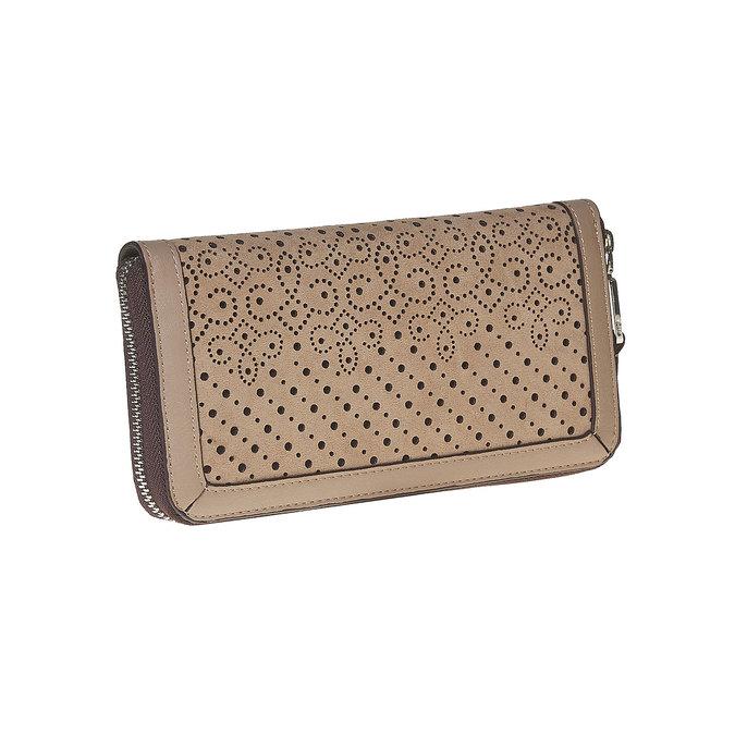 Perforovaná dámska peňaženka bata, hnedá, 941-3147 - 13