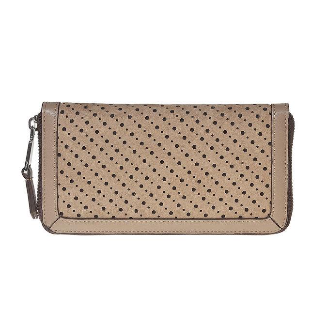 Perforovaná dámska peňaženka bata, hnedá, 941-3147 - 26