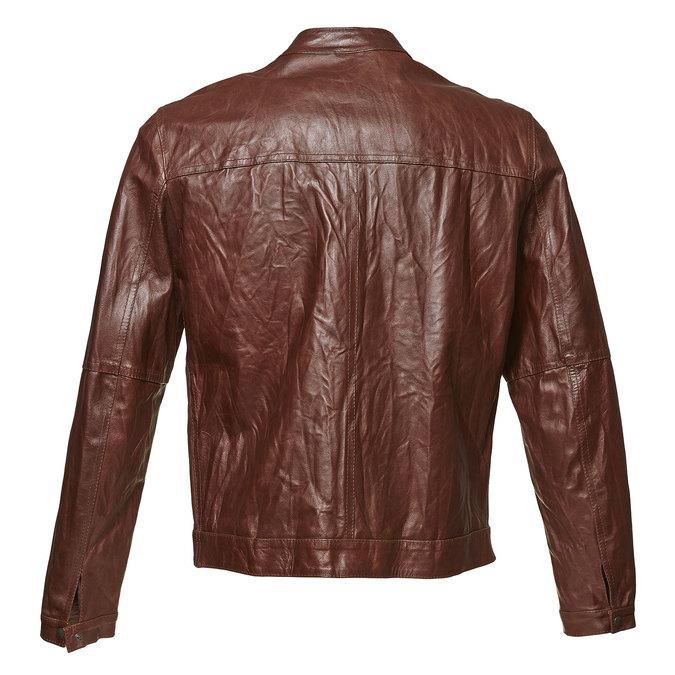 Dámska kožená bunda so štýlovým prešívaním bata, hnedá, 974-4142 - 26
