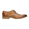 Kožené poltopánky v Derby strihu bata, hnedá, 826-3802 - 15