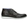 Kožená členková obuv s ležérnou podošvou bata, čierna, 826-4818 - 15
