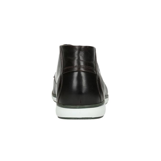 Kožená členková obuv s ležérnou podošvou bata, čierna, 826-4818 - 17