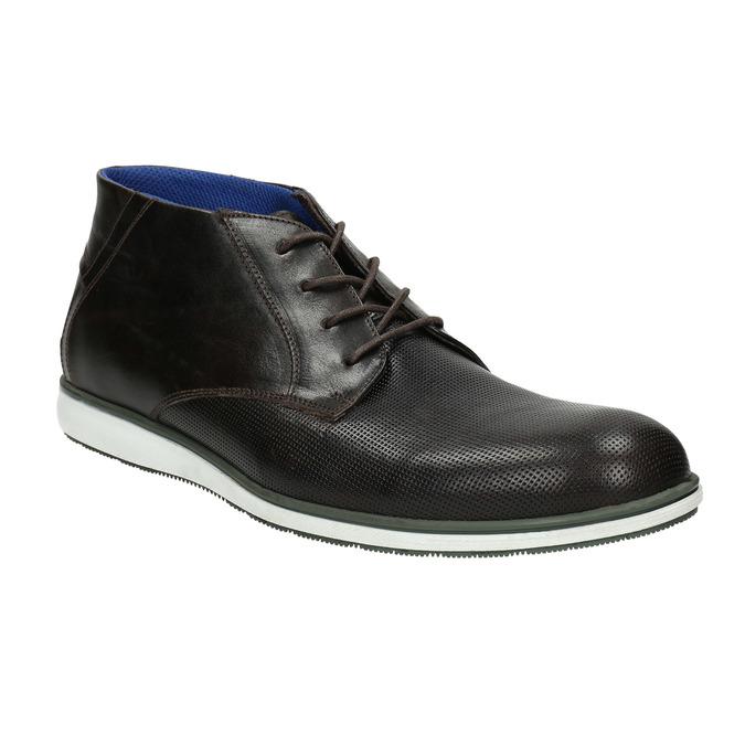Kožená členková obuv s ležérnou podošvou bata, čierna, 826-4818 - 13
