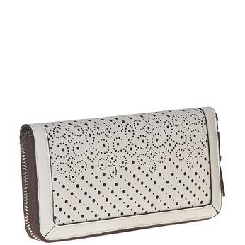 Dámska peňaženka s perforáciou bata, biela, 941-1147 - 13