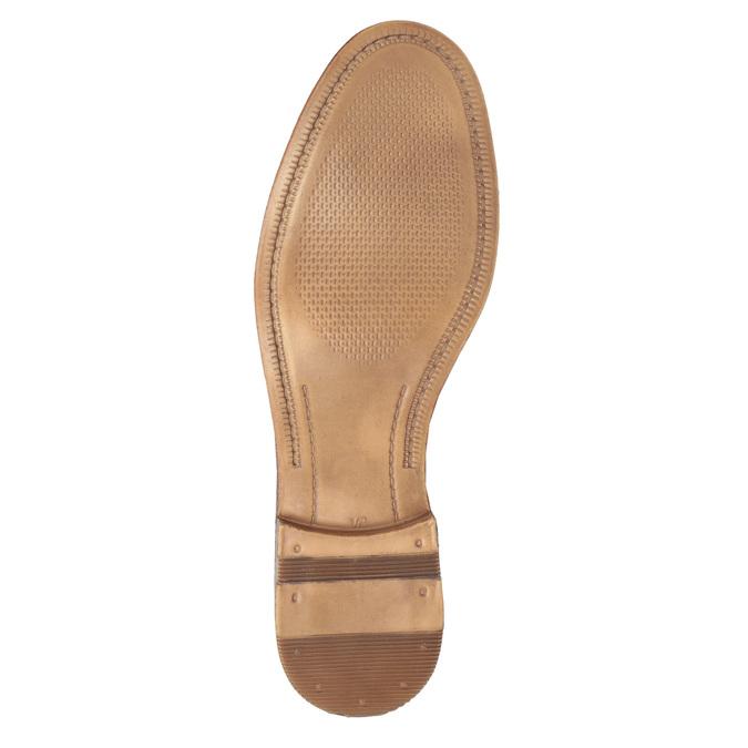 Ležérne kožené Derby poltopánky bata, hnedá, 826-3907 - 26