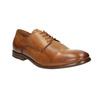 Ležérne kožené Derby poltopánky bata, hnedá, 826-3907 - 13