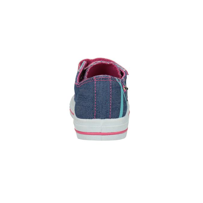 Dievčenské tenisky na suchý zips mini-b, modrá, 229-9183 - 17