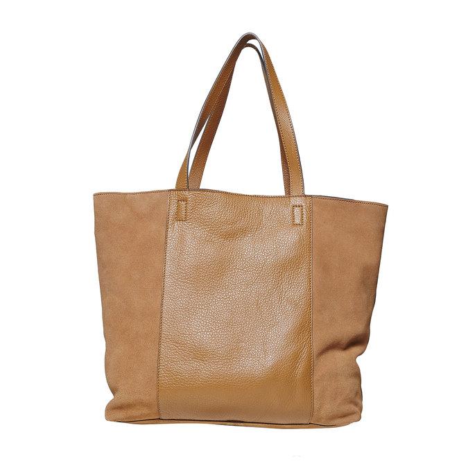 Dámska hnedá kožená kabelka bata, hnedá, 964-3185 - 26
