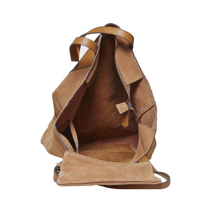 Dámska hnedá kožená kabelka bata, hnedá, 964-3185 - 15