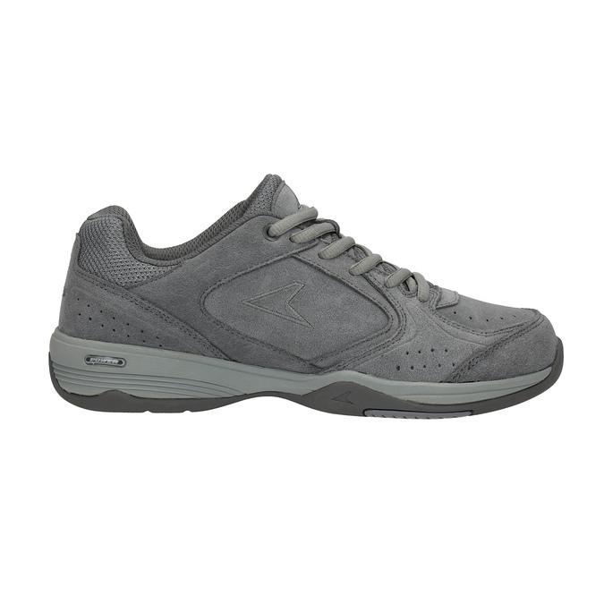 Dámske kožené tenisky power, šedá, 503-2117 - 15