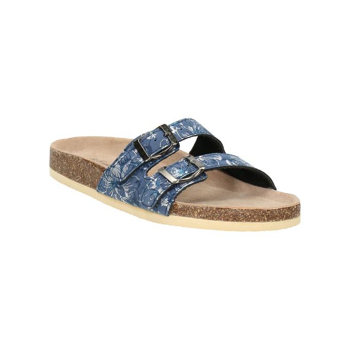 Dámska domáca obuv de-fonseca, modrá, 571-9600 - 13