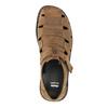 Kožené hnedé pánske sandále bata, hnedá, 864-4600 - 19