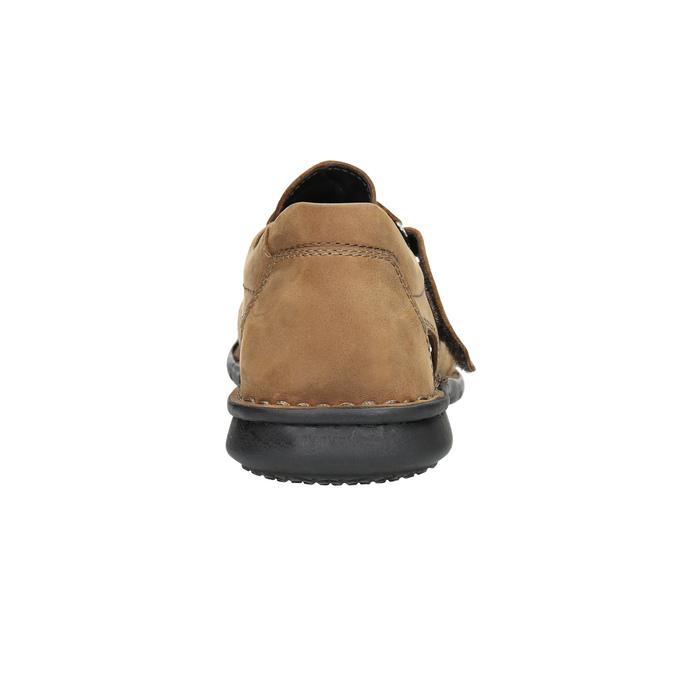 Kožené hnedé pánske sandále bata, hnedá, 864-4600 - 17