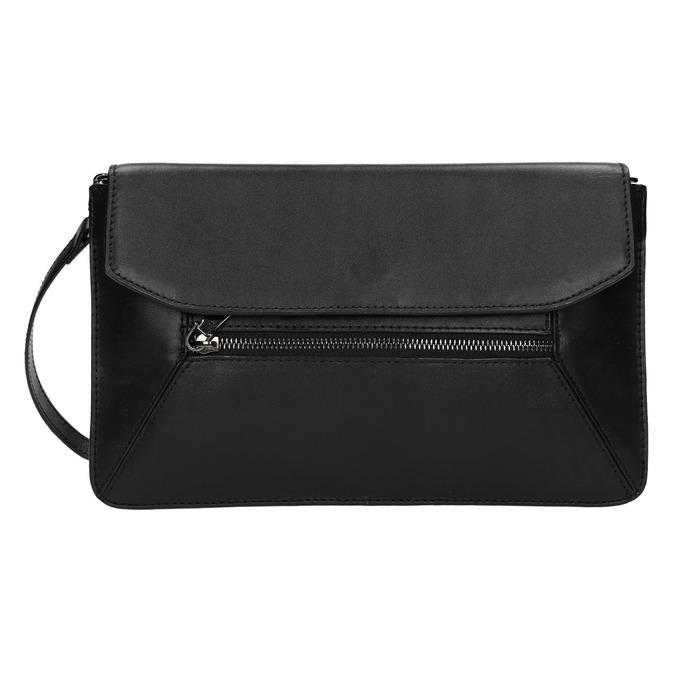 Čierna kožená listová kabelka bata, čierna, 964-6219 - 26