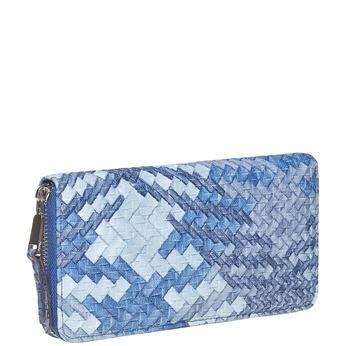 Modrá dámska peňaženka so vzorom bata, modrá, 941-9149 - 13