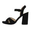 Dámske sandále na masívnom podpätku bata, čierna, 769-6602 - 26