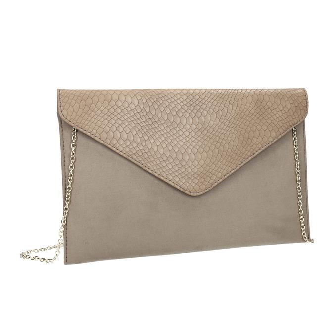Listová kabelka s hadím vzorom bata, hnedá, 969-8643 - 13