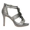 Sandále na ihličkovom  podpätku bata, šedá, 761-2602 - 15