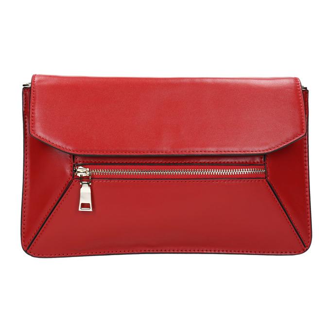Červená kožená listová kabelka bata, červená, 964-5219 - 26