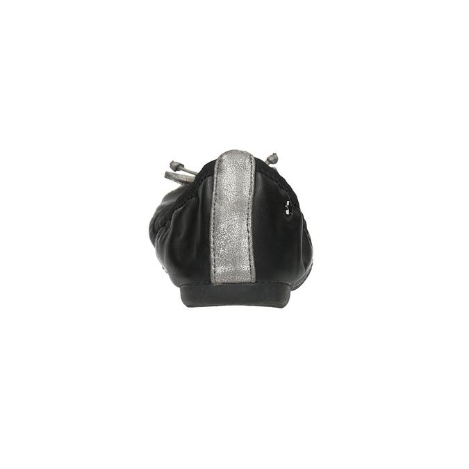 Dámske baleríny s pružným lemom bata, čierna, 521-2601 - 17