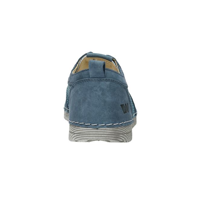 Ležérne kožené poltopánky weinbrenner, modrá, 523-9475 - 17