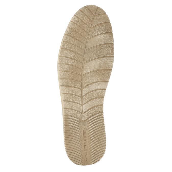 Ležérne kožené poltopánky weinbrenner, béžová, 523-2475 - 26