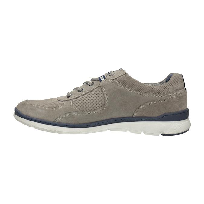 Ležérne kožené tenisky bata, šedá, 843-2627 - 26